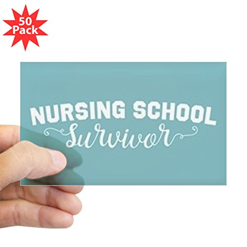 CafePress - Nursing School Survivor - Sticker (Rectangle 50 pk) by CafePress
