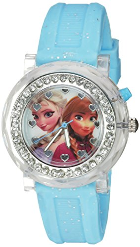 - Disney Kids' FZN3564 Frozen Anna & Elsa Flashing Blue Watch