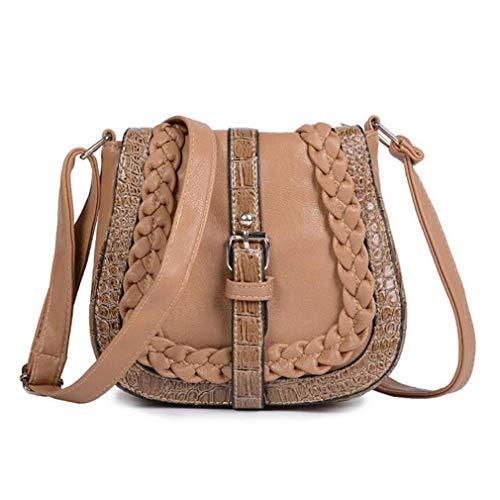 Bolsos Crossbody Brown Bolsos Size de de One Black Hacen de Bolso Mujer Mensajero Light del Que Punto C0f4CqwZ