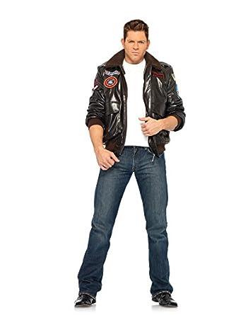 Amazon.com: Leg Avenue Mens Bomber Jacket Top Gun Costume: Clothing
