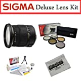 Sigma Lens Bundle for Canon Featuring Sigma 17-50mm f/2.8 EX DC OS HSM Zoom Lens, Opteka Pro 5 Piece Filter Kit and More