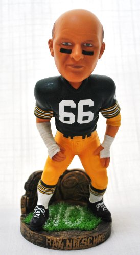 GREEN BAY PACKERS RARE RAY NITSCHKE #66 HALL OF FAME ''LEGENDS OF THE FIELD'' COLLECTION BOBBLE HEAD BOBBLEHEAD by FOREVER