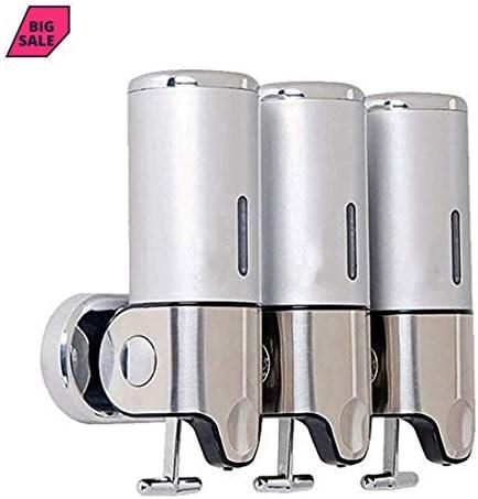 FANCHI シャワーディスペンサー石鹸用シャンプーコンディショナーボディウォッシュウォールマウントロックディスペンサー500 ml x 3