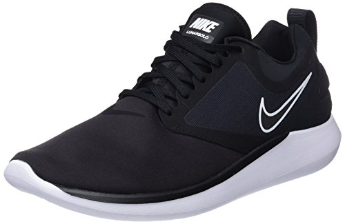 Nike Men's Lunarsolo Black/Anthracite White Ankle-High Running Shoe - 10M (Nike Shoes Lunar Men)