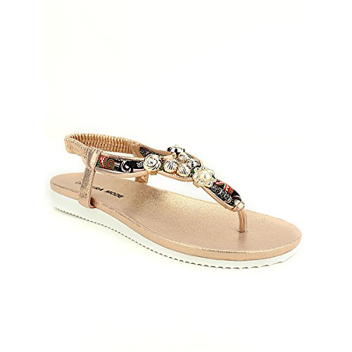 Mode Femme Laura Color Tong Champagne Beige Cendriyon Chaussures xYqUIRwz