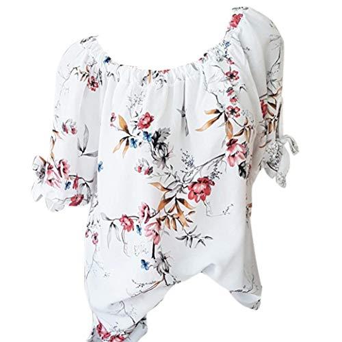 Camicia Donna Unita Tinta Itisme Damen Bianco Tops Impero Corta Manica 1xqEZBTEw