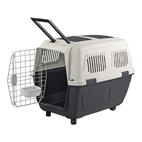 Animal Treasures PS7909 Deluxe Dog Kennel, Large/28, Gray/White
