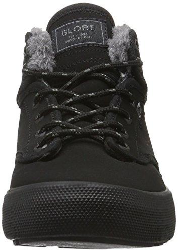 Noir De Mid Globe Noire Homme Motley noir Pour Fourrure Skateboard Chaussures F7t01wx