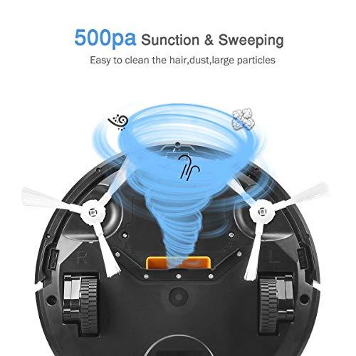 Robot Higher Suction, Sensing Tech w/HEPA Filter Pet