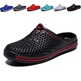 welltree Garden Shoes/Sandals Women Men Quick Drying Clogs/Slippers Walking Lightweight Rain Summer 8.5 Men/10.5 Women/Black/42
