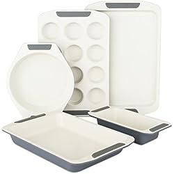 Viking 4040-9985-CGY Ceramic Bakeware Set, 5 Piece