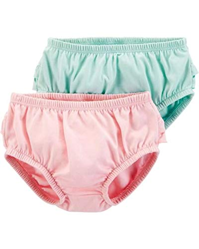 - Carter's Baby Girls' 2-Pack Diaper Covers (12 Months, Turquoise/Pink)