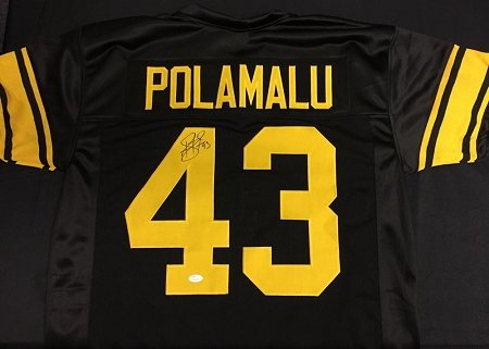 Troy-Polamalu-Autographed-Pittsburgh-Steelers-75th-Anniversary-Custom-Jersey