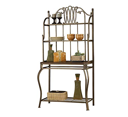 Bakers Rack Hillsdale Furniture - Wood & Style Furniture Montello Baker's Rack, Old Steel Home Office Commerial Heavy Duty Strong Décor
