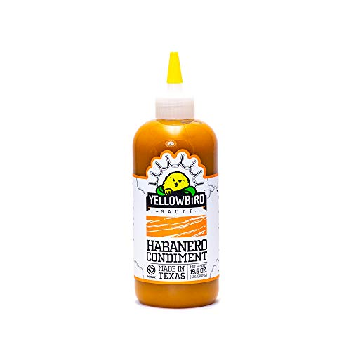 Habanero Hot Sauce by Yellowbird Foods, All Natural, Non-GMO, 19.6 oz bottle