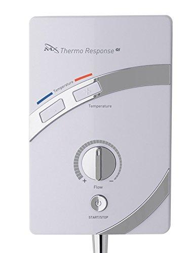 MX Group GCU 8,5 kW MX Thermo respuesta Qi eléctrico ducha - blanco/cromo: Amazon.es: Bricolaje y herramientas