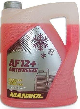 Mannol 15718400500mn Longlife Antifreeze Af12 40 Kühlerfrostschutz Kühlmittel 5l 157757 Auto