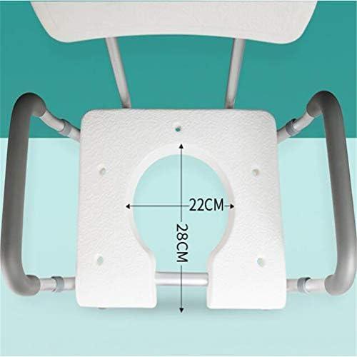 Bbhhyy Toilettenstuhl Ältere Bad Stuhl Duschstuhl for Behinderte Badezimmer Mobiltoilette Stuhl Dual-Purpose