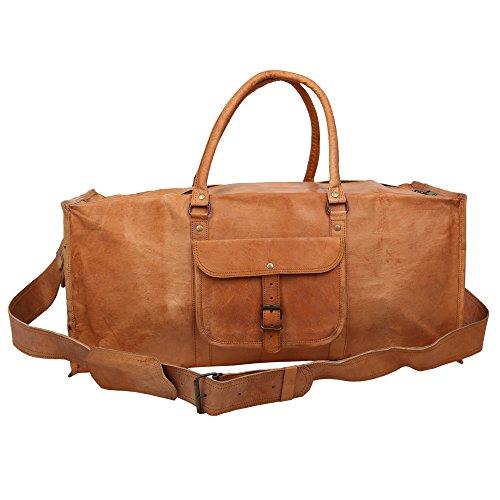 handcraft-leather-vintage-tan-luggage-garment-bag-travel-bag-cargo-duffel-bag