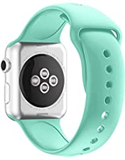 sport Band for apple sport Smart Watch 44  42 Silicon – Turquoise