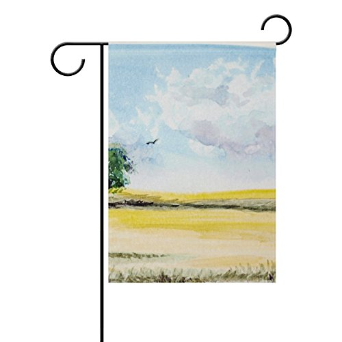 DNOVING Home Decorative Outdoor Double Sided Watercolour Lan