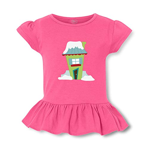 Tall Green House Short Sleeve Toddler Cotton Girly T-Shirt Tee - Hot Pink, Small ()