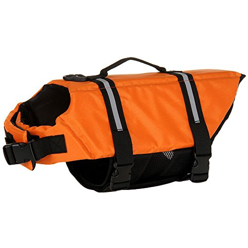 SILD Pet Life Jacket Size Adjustable Dog Lifesaver Safety Reflective Vest Pet Life Preserver Dog Saver Life Vest Coat for Swimming,Surfing,Boating, Hunting (XXL, Orange) from SILD
