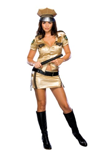 Secret Wishes Women's Reno 911 Deputy Johnson Costume, Gold, Large