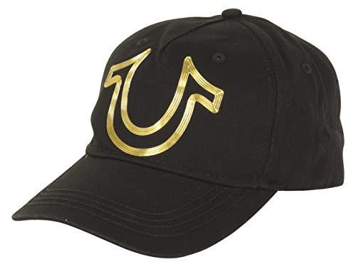 True Religion Metallic Horseshoe Baseball Cap (Black, OSFA)