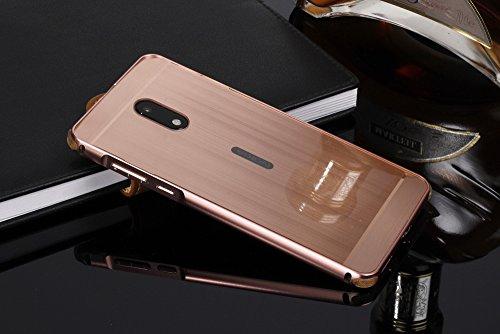 Nokia 6 Case, ZLDECO Stylish Edge Shockproof Metal Frame