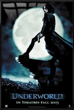 Underworld - Framed Movie Poster/Print (Moon) (Size: 27 inches x 40 inches)