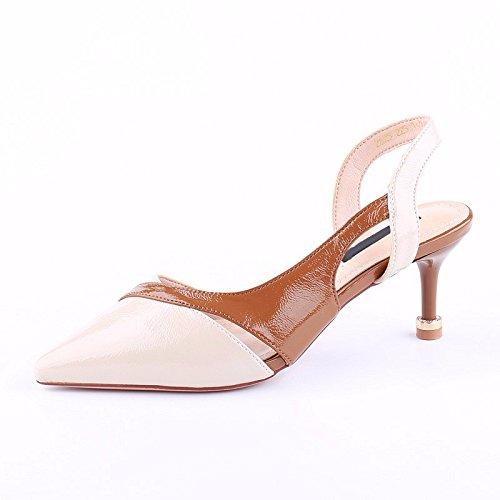KPHY-Häuser 7 Cm High Heels Mit Einer Einer Einer Feinen Flachen Mode Schuhe Sexy Sommer Farbe Der Kater Folgen Einzelne Schuhe c9b516