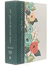 KJV, Journal the Word Bible, Large Print, Cloth over Board, Green Floral, Red Letter: Reflect, Journal, or Create Art Next to Your Favorite Verses