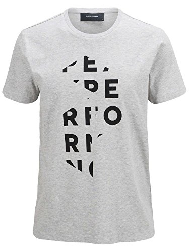 Peak Performance Logo T-Shirt Med Grey Mel