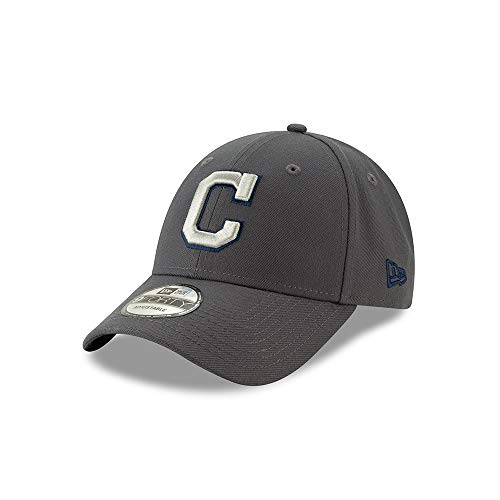 New Era Cleveland Indians The League Graphite 9FORTY Adjustable Hat/Cap ()