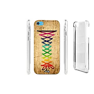 FUNDA CARCASA EFECTO MADERA LACES RAINBOW PARA IPHONE 5C