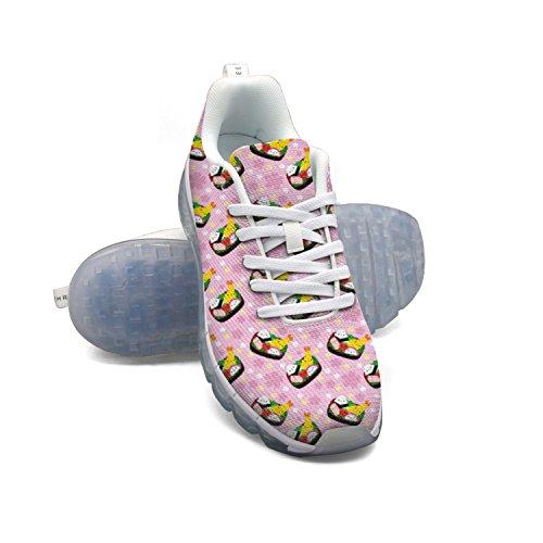 Ver barato en línea Perfecto Faaerd Rosa Feliz Del Kawaii Japonés De Camarón Comida Zapatillas De Deporte De Colchón De Aire De Manera Malla Ligera De Los Hombres Zapatos Para Caminar Dg8E9wjm3