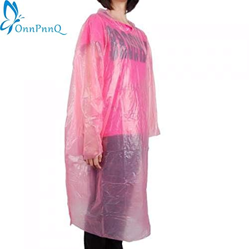 Transparent Raincoat - Transparent Raincoat Woman Portable Outdoor Travel Waterproof Disposable Camping Hooded Plastic Rain Cover - Charwoman Cleaning Lady Womanhood Adult - 1PCs