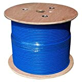 1000Ft Cat.6 23AWG Solid Wire Shielded (FTP) Blue