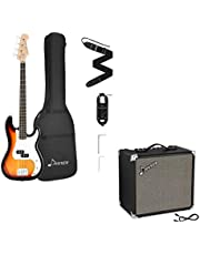 $251 » Donner DPB-510S Full-Size Full Size 4 Strings Electric Bass Guitar Sunburst Beginner Starter Kit with Bag & 30W Bass AMP Bass Combo Amplifier DBA-30