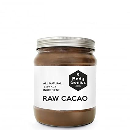 BODY GENIUS Raw Cacao. Cacao Puro en Polvo. Sin Azúcar. Made in Spain. 500 gr: Amazon.es: Alimentación y bebidas