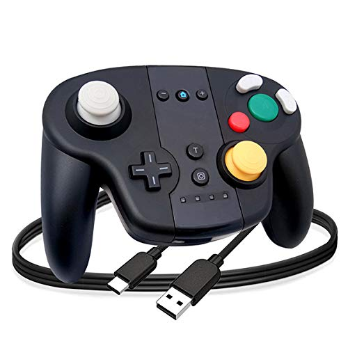 Ninperdot Wireless Gamecube Controller for Nintendo Switch and PC NFC Game, Gamepad Compatible Bluetooth with USB Charging Cable Support Motion Sensing, Vibration Function, Turbo, NFC