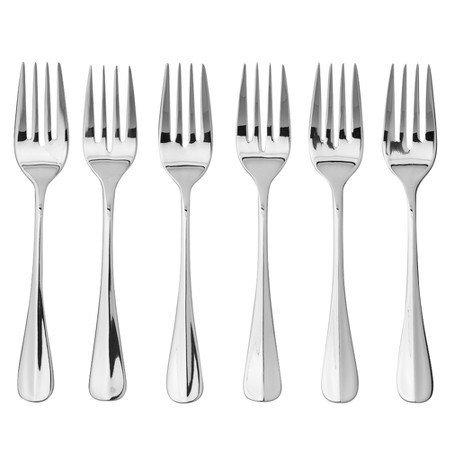 (Oneida Savor Salad Forks, Set of 6,stainless steel silver)