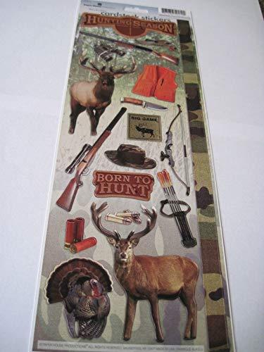 Sticker Scrapbooking Crafts Paper House Flat Hunting Season Deer Turkey Bow 13