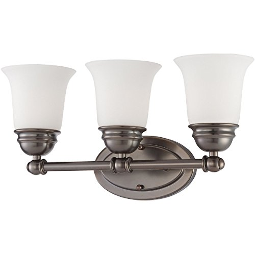 Thomas Lighting SL714315 Bella Collection 3 Light Bath Light, Oiled Bronze (Lighting Lighting Bronze Thomas)