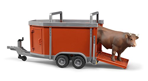 Cattle Cow Bull - Bruder Cattle Trailer including Cattle (1 pc. Color may vary)