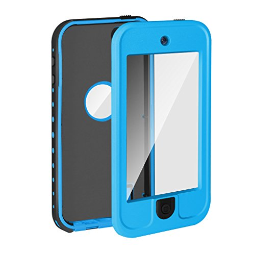 Waterproof case for Ipod Touch 5 , YOOHOG Underwater Waterproof Shockproof Snow proof Dirt Proof Protection Case Cover with Finger Print ID and Built In (Ipod 4g Waterproof Case)