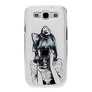 LCJ Girl Taking Photo Drawing Pattern Neutral Stiffiness Silicone Gel Back Case Cover for Samsung Galaxy S3 I9300