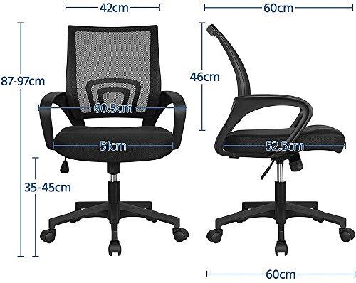 HLR kontorsstol skrivbordsstol kontorsstol ergonomisk skrivbordsstol nät datorstol ländryggsstöd modern verkställande justerbar pall rullande svängbar stol för ryggsmärta