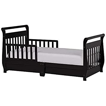 buy popular 954e3 19229 Dream On Me Toddler Bed with Storage Drawer - Black